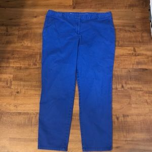 Talbots royal blue weekender pants size 14